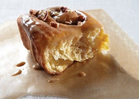 Sweet Potato and Pecan Cinnamon Buns with Maple Glaze