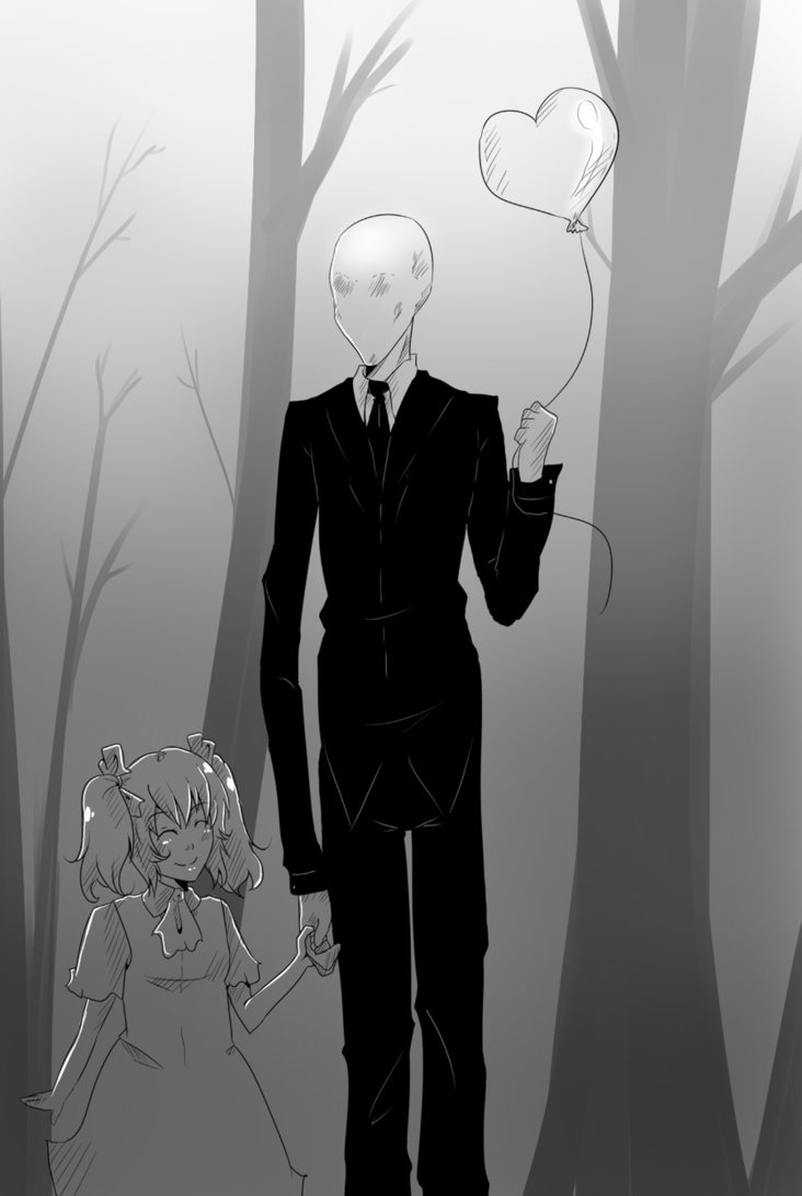 Slender Man (a.k.a Slenderman) is a mythical creature often depicted as a tall, thin figure wearing a black suit and a blank face. According to the legend, he can stretch or shorten his arms at will and has tentacle-like appendages protruding from his back.