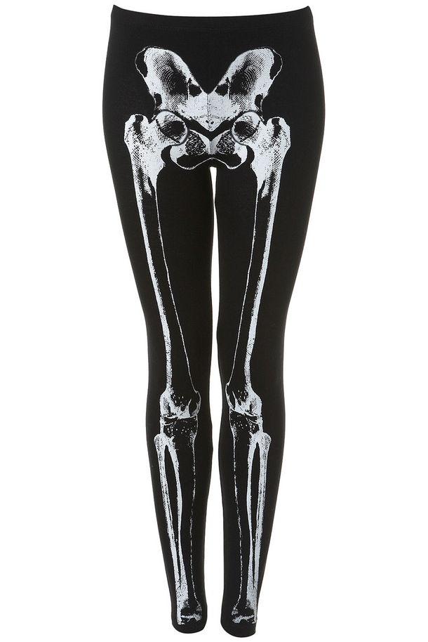 Skeleton leggings / Tee and Cake for Topshop