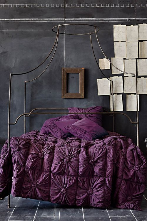 you could start here purple gray bedroom with anthropologie rosette