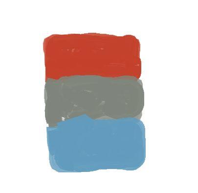 Color scheme burnt orange slate blue my new living - Burnt orange color scheme ...