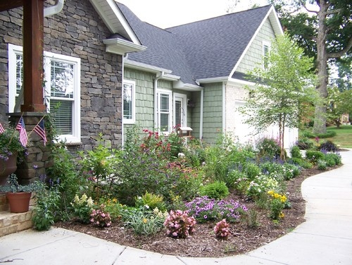 Love the accent river rock siding the yard pinterest