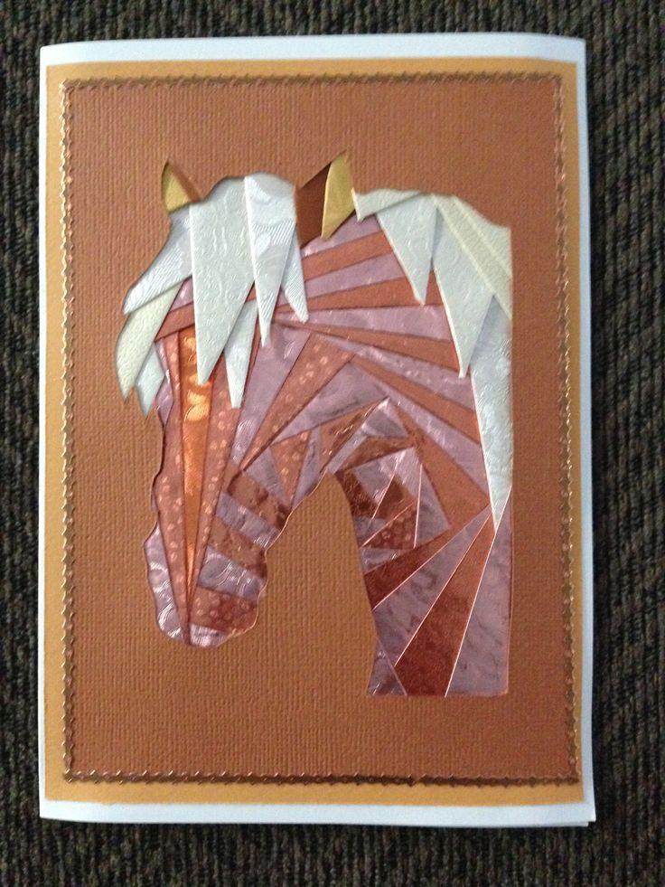 horse iris folding by carolyn michelsen iris folding pinterest. Black Bedroom Furniture Sets. Home Design Ideas