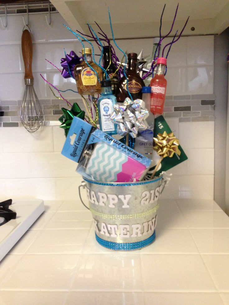21st Birthday Gift Basket Ideas : St birthday gift basket ideas