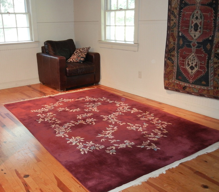 "Chinese Art Deco Nichols Oriental Red Rug 6' by 8'10"". $600.00, via Etsy."