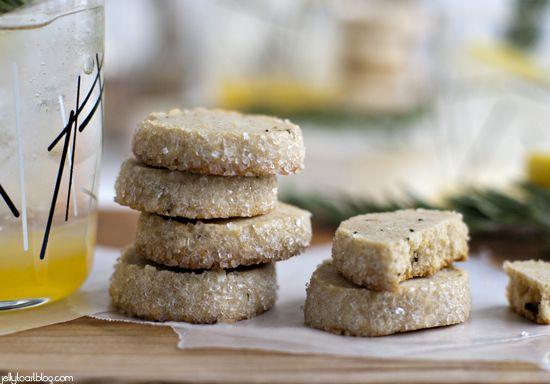 Jelly Toast: rosemary lemon shortbread + a rosemary citrus spritzer