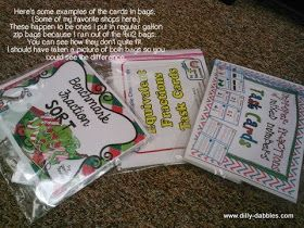 DillyDabbles: Organizing Task Cards with Folders and Bags