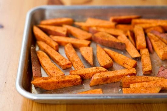 weeknight dinner crispy breaded tofu strips amp sweet potato fries
