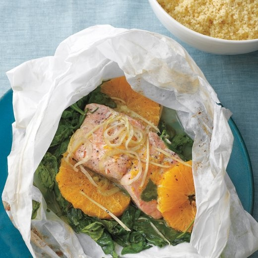 Salmon and Spinach in Parchment | Recipe