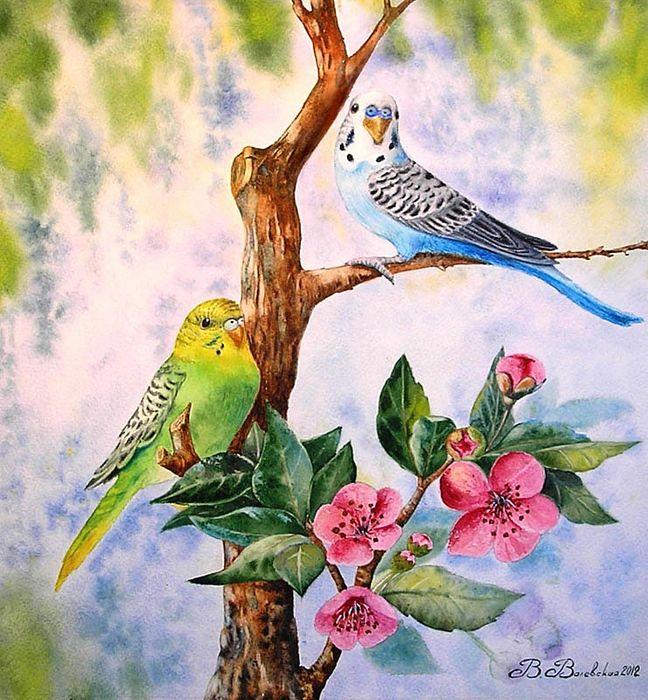 Valevskaya Valentina Mihaylovna. 'Two Parrot'