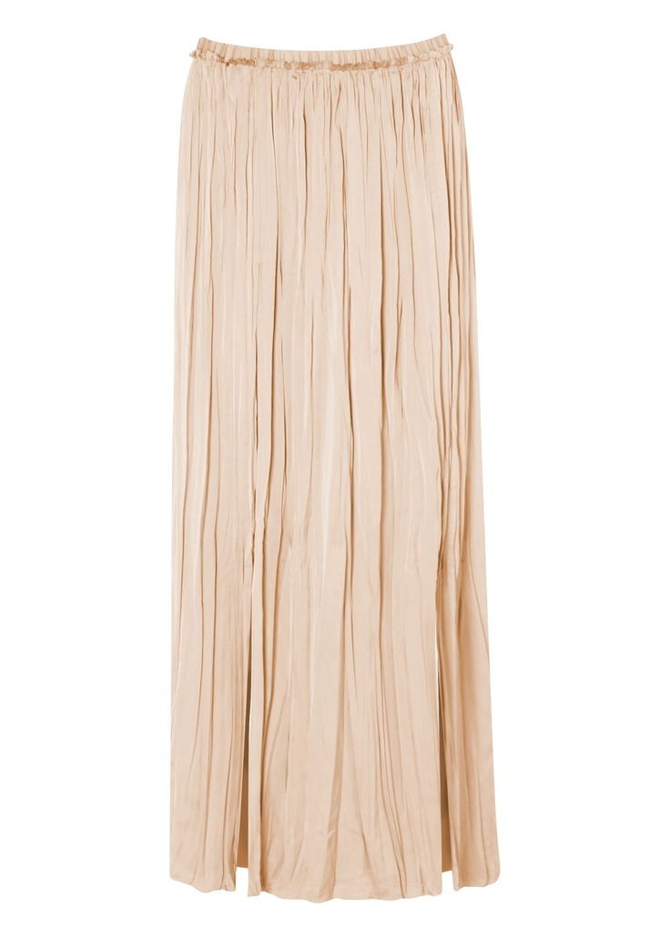 Matalan - Womens Cream Pleated Maxi Skirt  £22