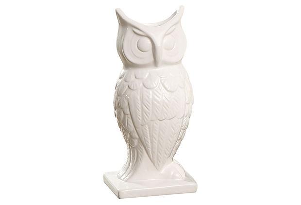 Dolomite Owl Vase
