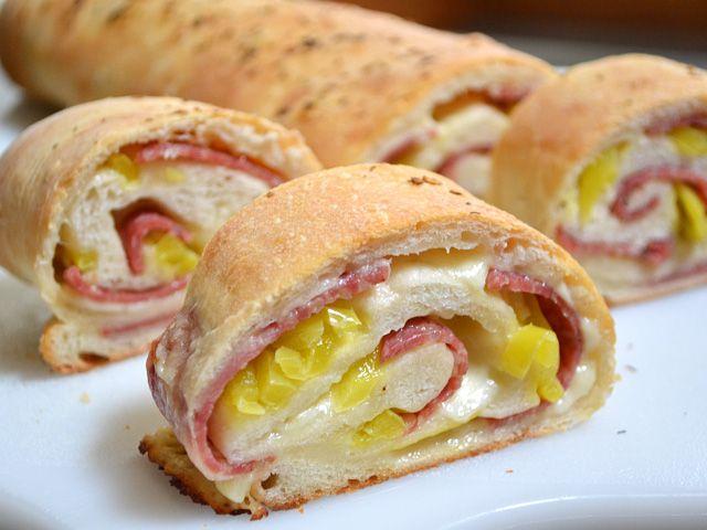 Stromboli [dough is homemade so allow for 2 hours prep or start night ...