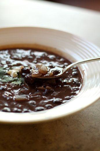 Black bean and coconut milk soup   SOUP~SALAD~SANDWICH   Pinterest