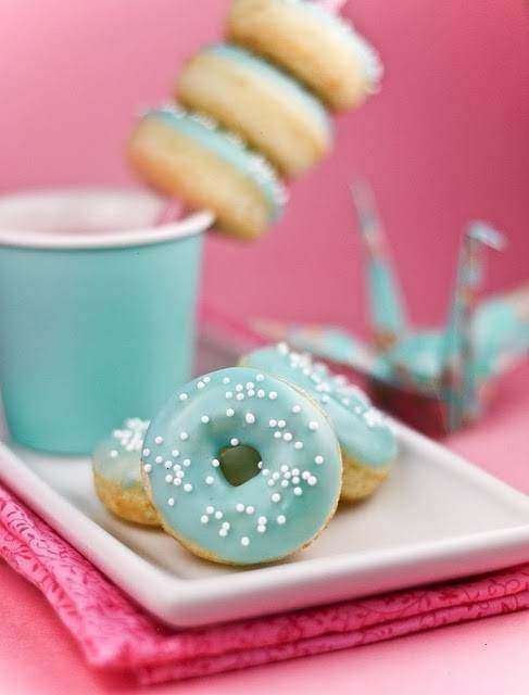 mini oven baked donuts. yummy!! | Yummy Sweets | Pinterest