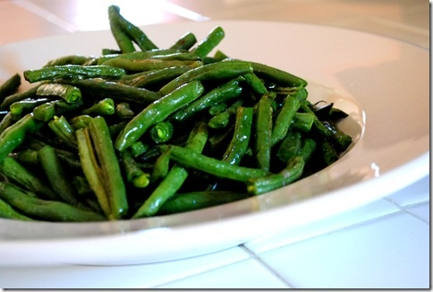 Roasted Green Beans (maybe I'll actually like a green bean if it's ...