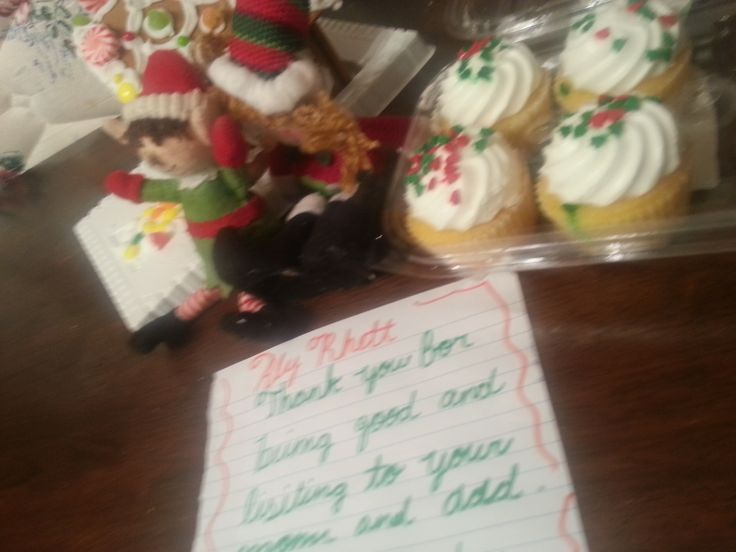 And a note saying the kids needed to be good or they would tell santa