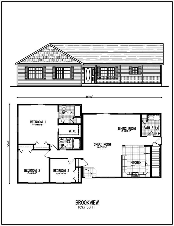 T Ranch 1 502 1 950 Pixels House Plans