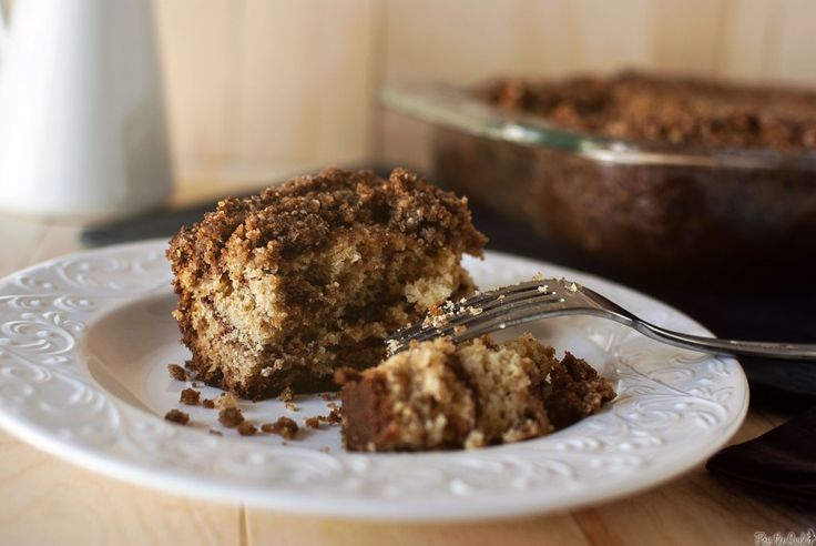Sour Cream Coffee Cake, with brown sugar-pecan crumb topping and a ...
