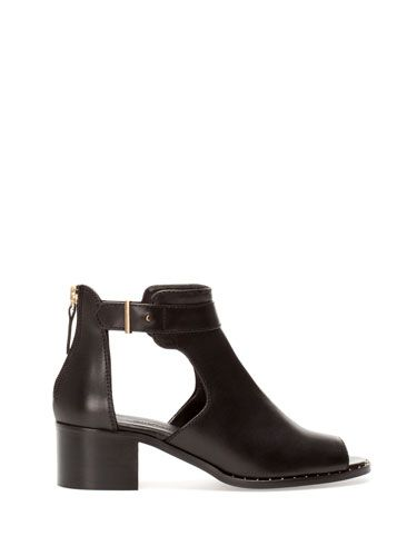 flat peep toe ankle boots shoes glorious shoes