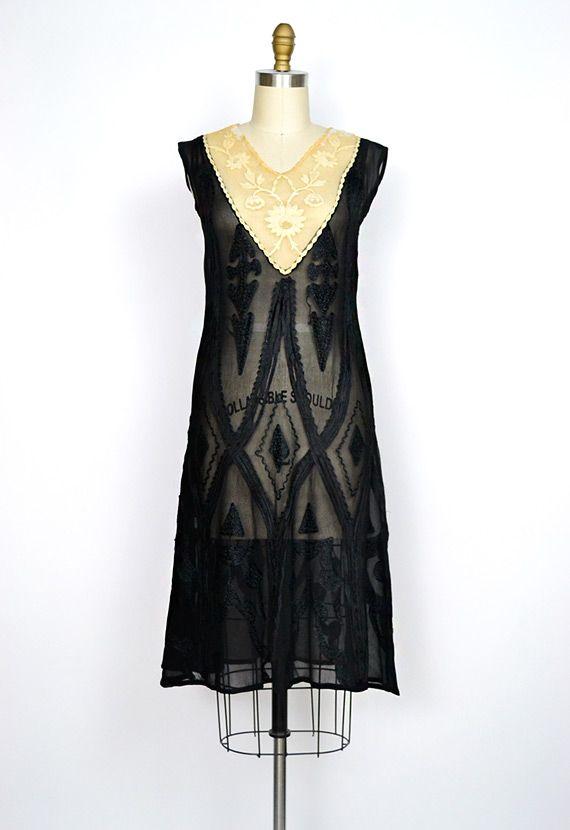 Modern Flapper Dress | silk flapper dress with scalloped skirt ...