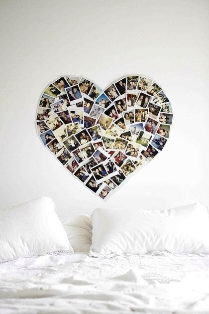 picture heart on the wall - love this for a tween/teen girl's room<3