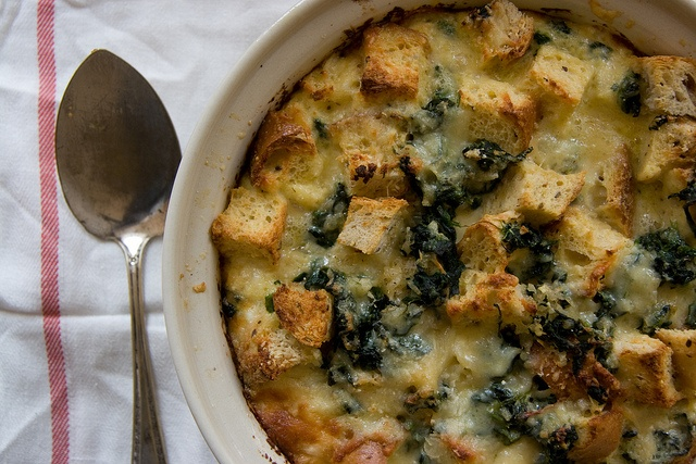 Spinach and Cheese Strata. | Recipes | Pinterest