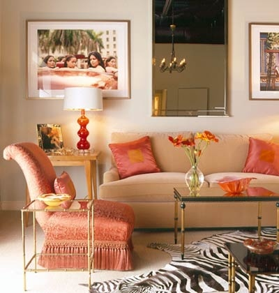 Coral accents living room decorating ideas pinterest for Coral living room ideas