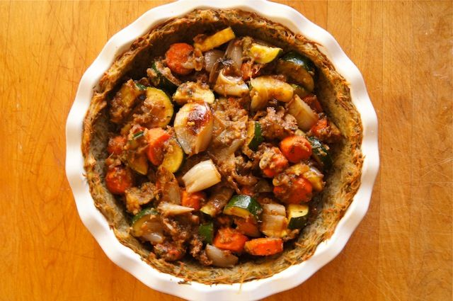 Potato Crusted Roasted Vegetable Pot Pie | Recipe