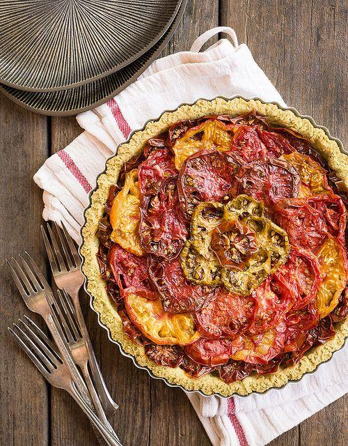 Gluten-Free, Paleo Tomato Tart | | savour | Pinterest