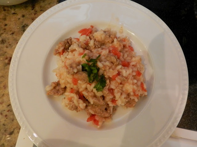 Sausage and Tomato Risotto | 178 days of school | Pinterest