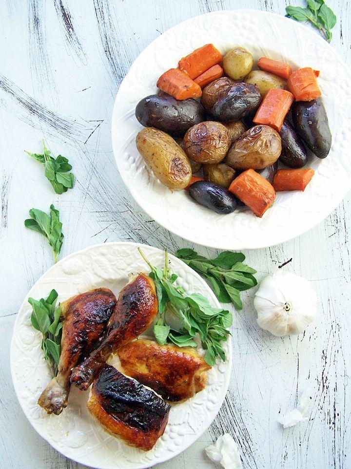 40 Cloves of Garlic Roast Chicken for The Shiksa's Passover Potluck