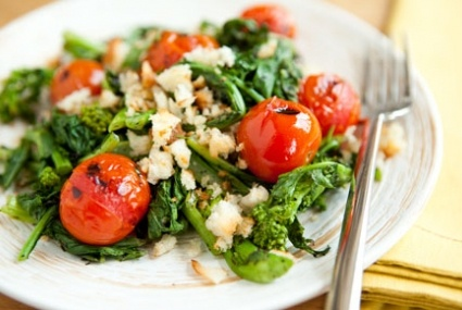 Grilled Tomato and Broccoli Rabe Salad with Sourdough Breadcrumbs | R ...