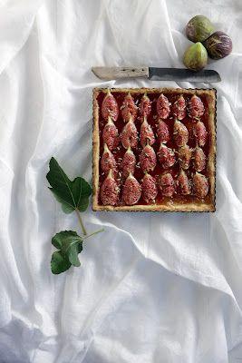 Fresh Fig & Marmalade Tart | gastronomies | Pinterest