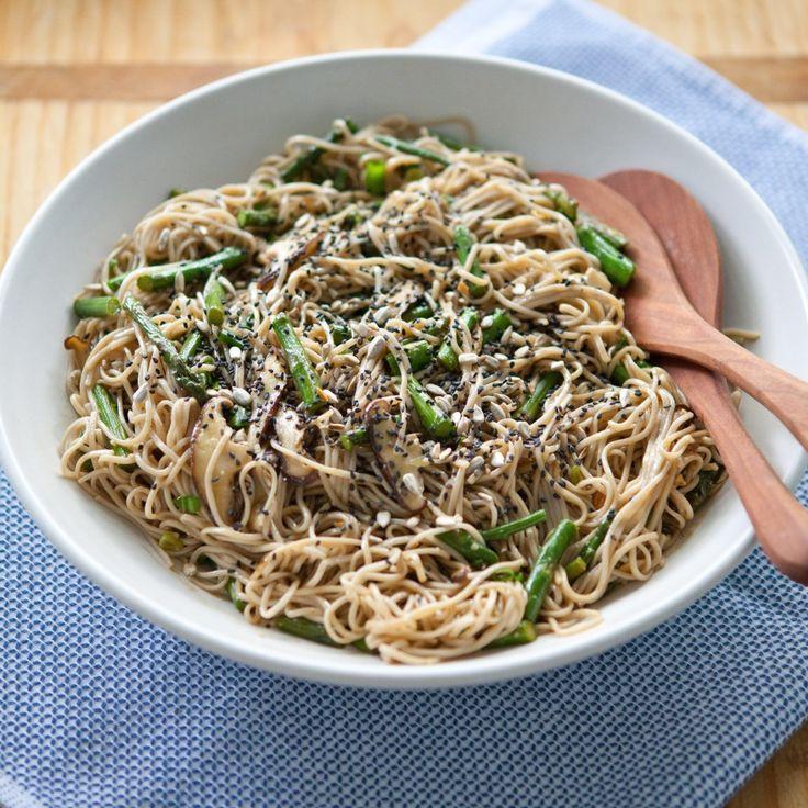 Miso-Roasted Asparagus Soba Noodle Salad - The Vegan Food Blog