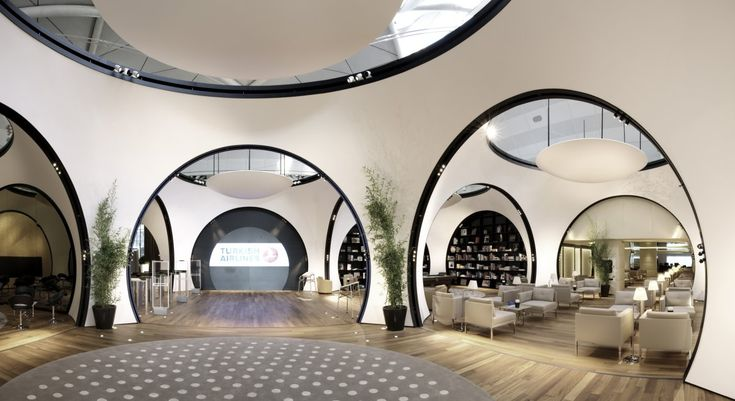 Turkish Airlines Lounge via Contemporist