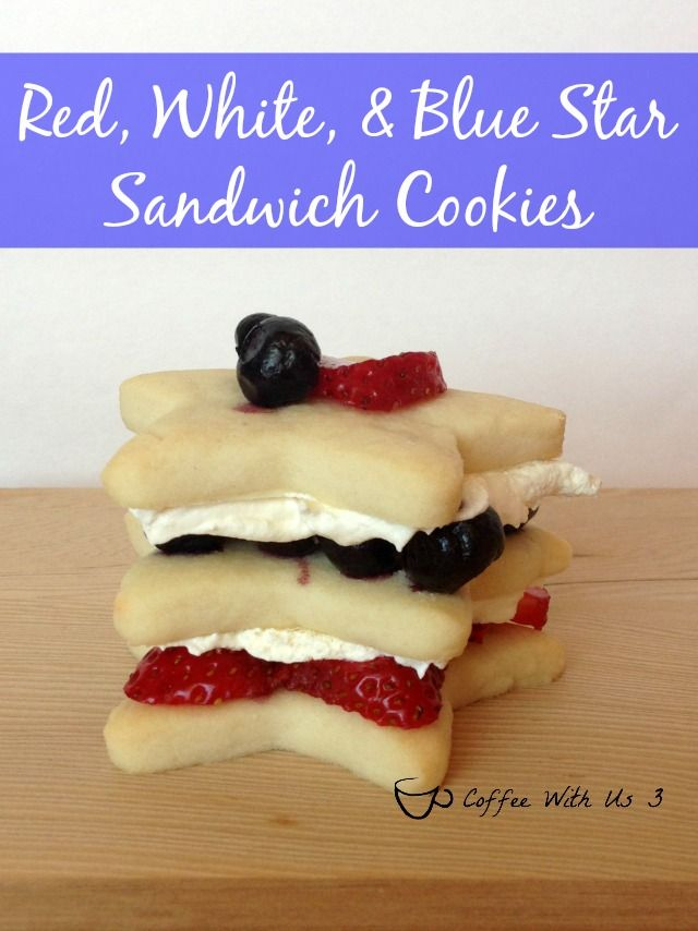 Red, White, Blue Star Cookies - These fun sandwich cookies are perfect ...
