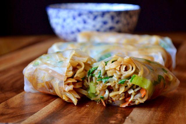 Vegetable Spring Rolls | Food | Pinterest