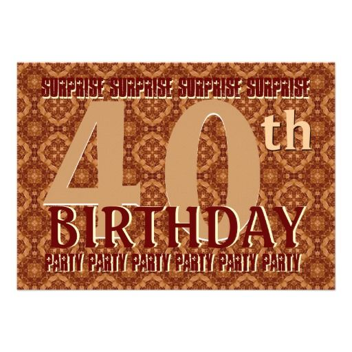40Th Birthday Invitations with great invitation layout