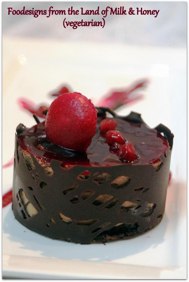 Chocolate Pomegranate Mousse Cake