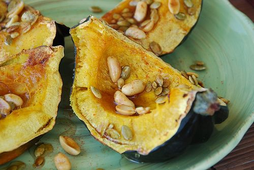 acorn squash with pepitas and peanuts | Thanksgiving with Peanuts and ...