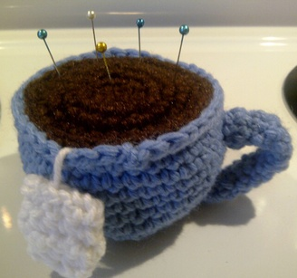 CROCHET TEA CUP PINCUSHION Only New Crochet Patterns