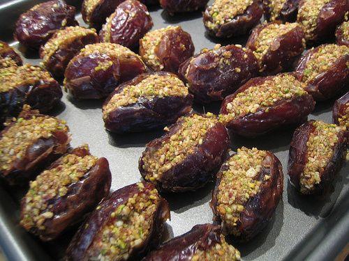 Pistachio Stuffed Dates | Middle Eastern Food | Pinterest