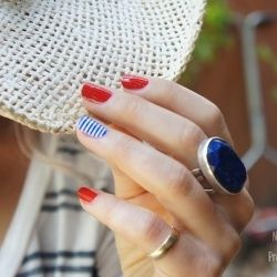 Get nautical with this cute 4th of July Nail Art Tutorial (via Pretty Prudent).
