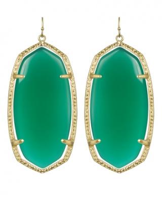 Kendra Scott Danielle earrings in green $60