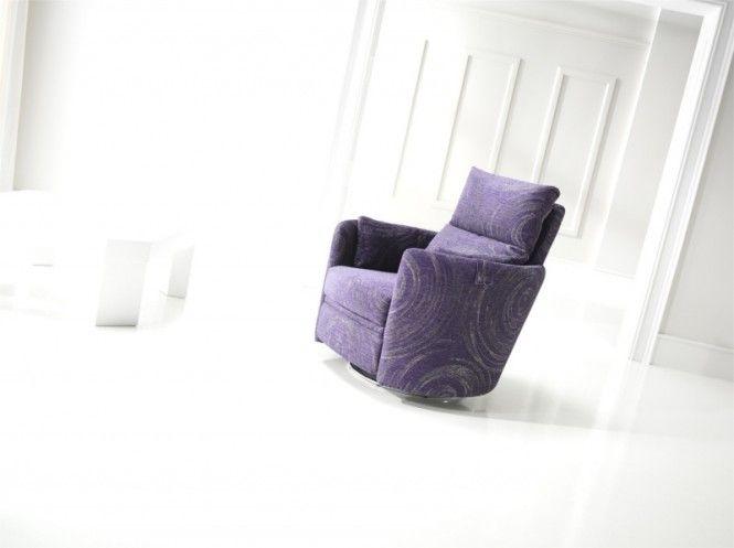 Purple Pattern Recliner Chair