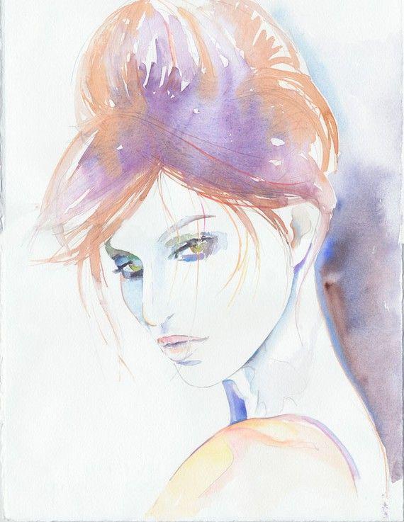 Watercolour fashion illustration giselle