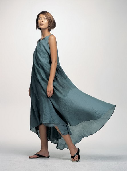 Mix mind long flowing dress