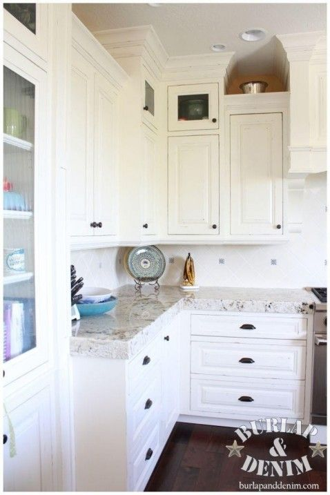 ... Angled Corner Cabinets. Anthropologie Styled Gourmet Kitchen