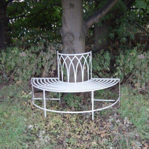 Garden furniture shabby chic metal bench vintage look bench gothic tr - Garden furniture shabby chic ...